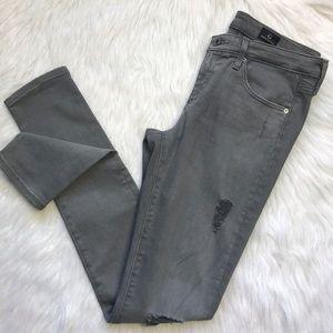 AG super skinny the Leggings Gray skinny jeans 27